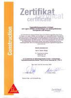 Zertifikate Kellerabdichtung